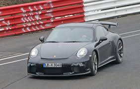 2018 porsche 911 gt3 spied testing at the nurburgring expect a