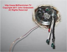 replacing a very old style ceiling electrical junction box mr