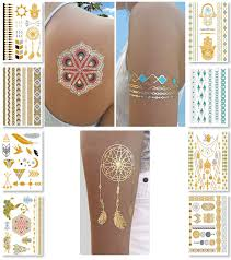 amazon com nhi metallic temporary tattoos 150 flash tattoos