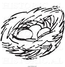 bird u0027s nest clipart black and white pencil and in color bird u0027s