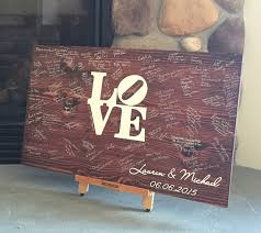 bridal shower sign in book wedding guest book wood guest book wedding guestbook