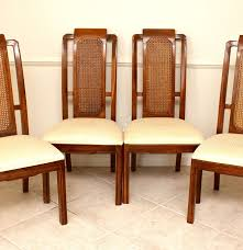 four cane back thomasville mystique collection dining chairs ebth