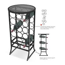sorbus wine rack stand sorbus wine rack stand glass table top ebay