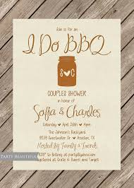 coed bridal shower couples or coed wedding shower invitation rustic i do bbq