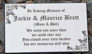 grave plaques acrylic laminate memorial plaques and grave markers the sign maker