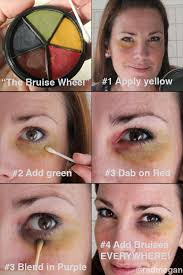 here are the application steps i used to give myself a black eye the painless way makeup