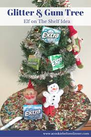 glitter and gum tree elf on the shelf idea