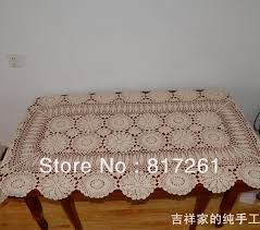 ikea table runners tablecloths cotton crochet beige 90cm round table cloth for wedding lace table