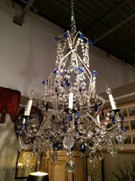 Czech Crystal Chandeliers Venetian Murano Crystal And Cobalt Blue Chandelier For Sale At 1stdibs
