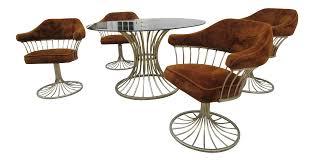 warren platner style dining table u0026 chairs set of 5 chairish