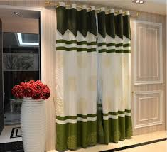 Emerald Curtain Panels by Green And Beige Chic Patio Door Medallion Curtains