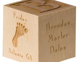 wooden personalized gifts baby blocks etsy