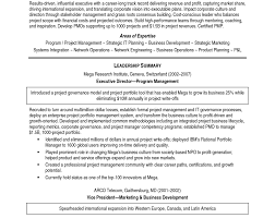 resume sample of management resume awesome program manager