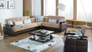 Sectional Sofa Bed With Storage Brown Fabric Modern Sectional Sofa Sleeper Storage Chaise S3net