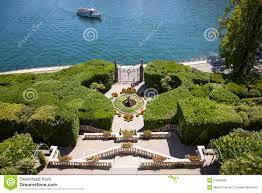 Lake Como Italy Map by Villa Carlotta Lake Como Italy Stock Photo Image 53500089