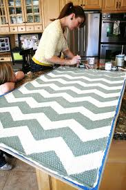 Diy Kitchen Rug Chevron Painted Rug From Ikea Tutorial