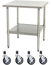 Amazoncom Seville Classics Stainless Steel Professional Kitchen - Kitchen cart table