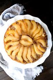 cinnamon pear updside down cake recipe pear cinnamon and cake