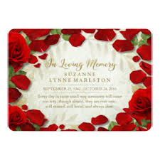 funeral service invitation floral celebration gifts on zazzle uk