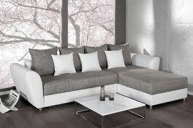 sofa mit federkern ecksofa palma strukturstoff hellgrau weiss federkern