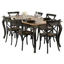 Distressed Black Dining Table Oak Table 2000 X 1000mm Distressed Black