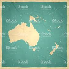 French Polynesia Map Oceania Map On Old Paper Vintage Texture Stock Vector Art