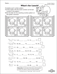 pattern worksheets number pattern worksheets grade 3 printable