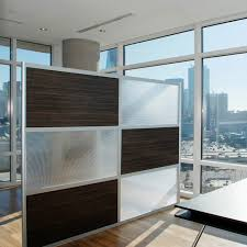 8 u0027 modern room divider ebony and translucent panels modern