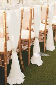 chiffon chair sash silky ivory chiffon sash chair drape arcadia designs