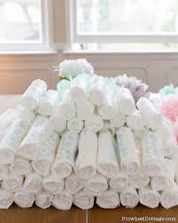 diy diaper cake tower for a baby shower loganberry handmade