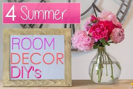 Diy Room Decorating Ideas For by 4 Easy Summer Room Decor Diys Youtube