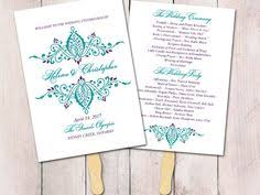 Peacock Wedding Programs Printable Wedding Program Template Peacock Wedding Program