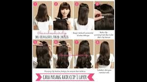 hair clip rambut asli 27732f3b cara pasang hairclip cara pasang poniclip cara