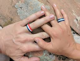 all fingers rings images Hammered stackable silicone ring jpg