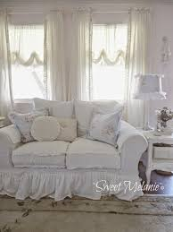 Rachel Ashwell Home by Rachel Ashwell Shabby Chic Couture Store Floris Sofa In White