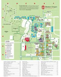 A Map Of Oregon by Campus Map Campus Public Safety