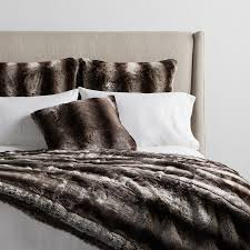 Furry Blanket Faux Fur Pillows Blankets And Throws Arhaus