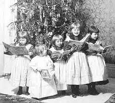 christmas caroling victorian christmas carol