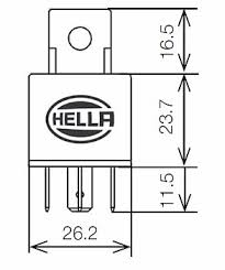 hella hl87453 mini relay 12v 30a spst dual 87 pin with diode