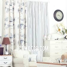 Nautical Curtain Fabric Striped Nautical Curtains Stripe And Sailboat Ready Made