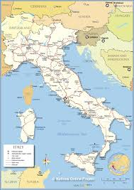 Map Of Mediterranean Countries Political Map Of Italy Nations Online Project