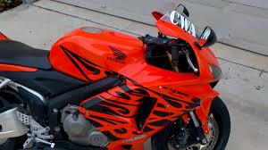 honda cbr 600 orange and black honda cbr 600rr orange tribal w bodies rfe youtube