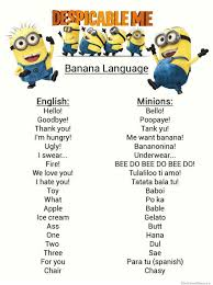 Minions Banana Meme - how to speak despicable me s banana language weknowmemes
