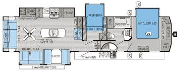 rv floor plans two kids and master king bed the floorplan