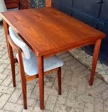 refinished danish mid century modern extendable teak dining table