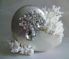 theme nautilus shell wedding cake topper jeweled starfish