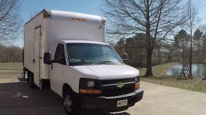 hd video 2013 chevrolet express 3500 box truck 14 ft with lift