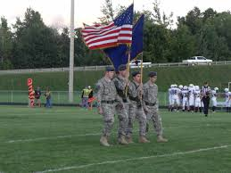 Union Army Flag September Home Football Game Color Guard Ncuhs Army Jrotc