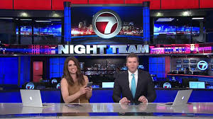 blooper reel kicking over the anchor desk trash can whdh 7 news
