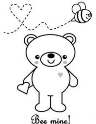 valentine day be mine valentine coloring page bee mine be mine